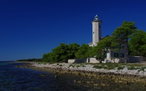 Insel Vir Leuchtturm
